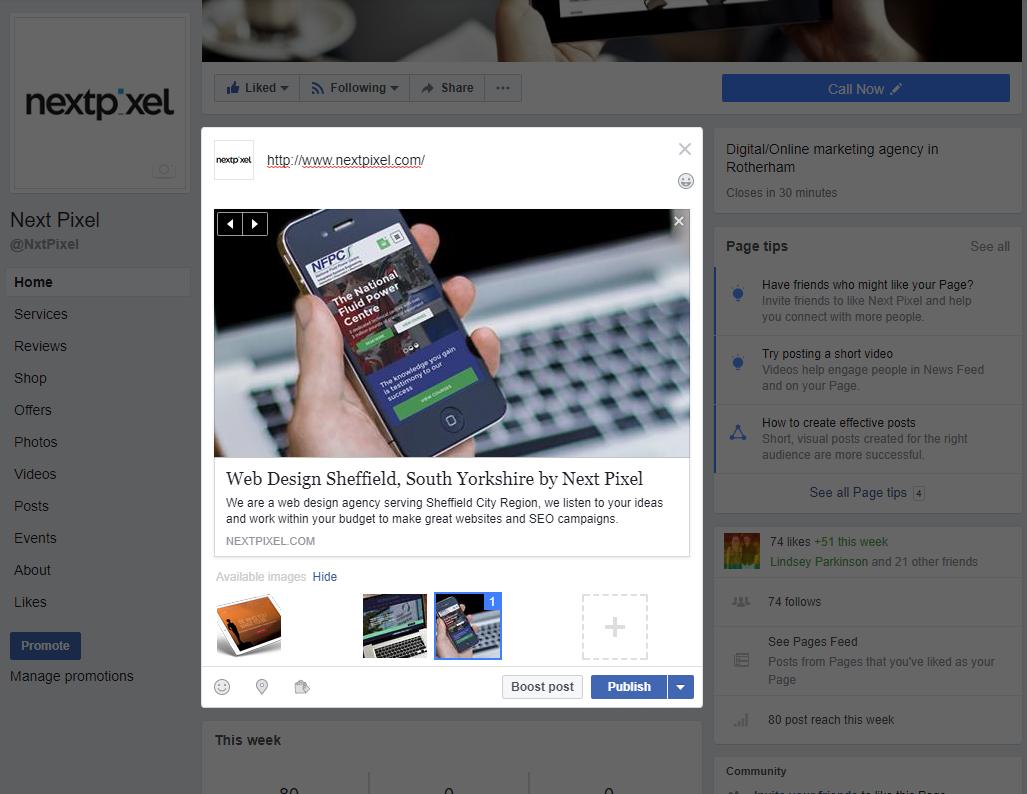 Facebook social marketing