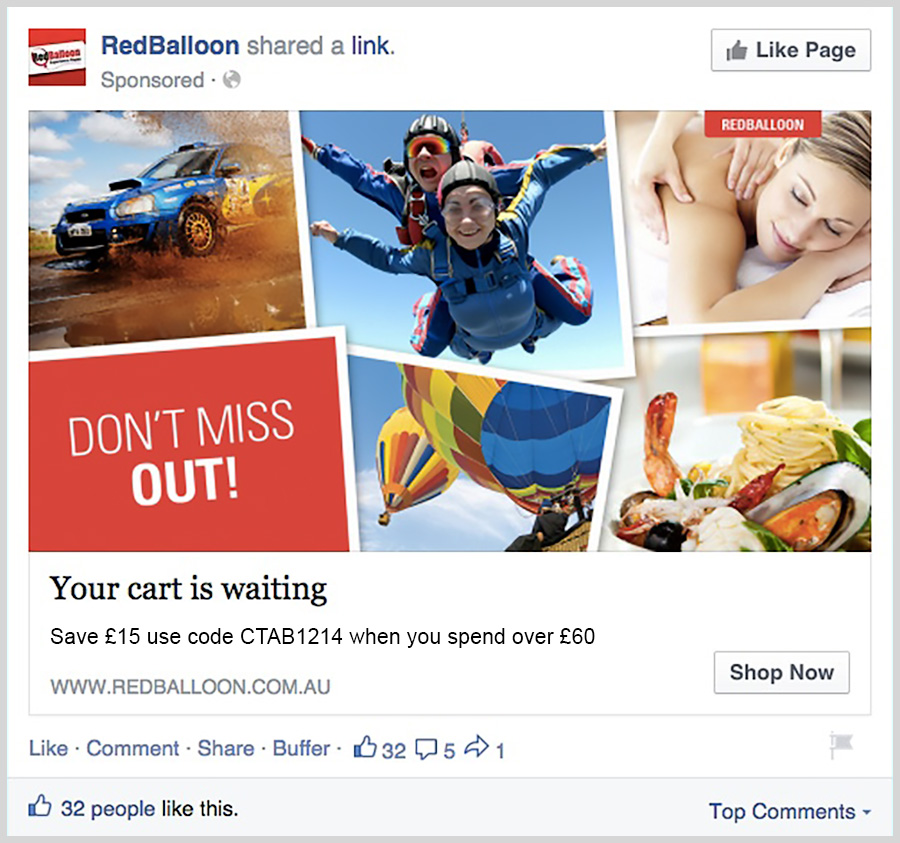 Facebook Remarketing Ad