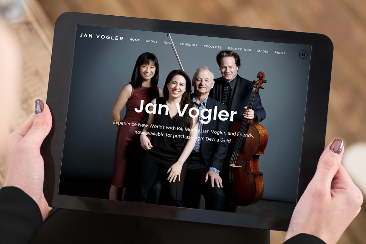 Jan Vogler Web Design iPad