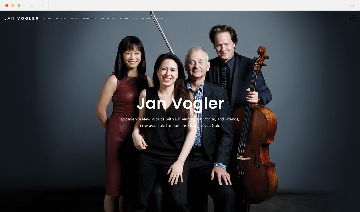 Jan Vogler Homepage