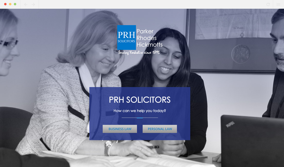PRH Solicitors Homepage