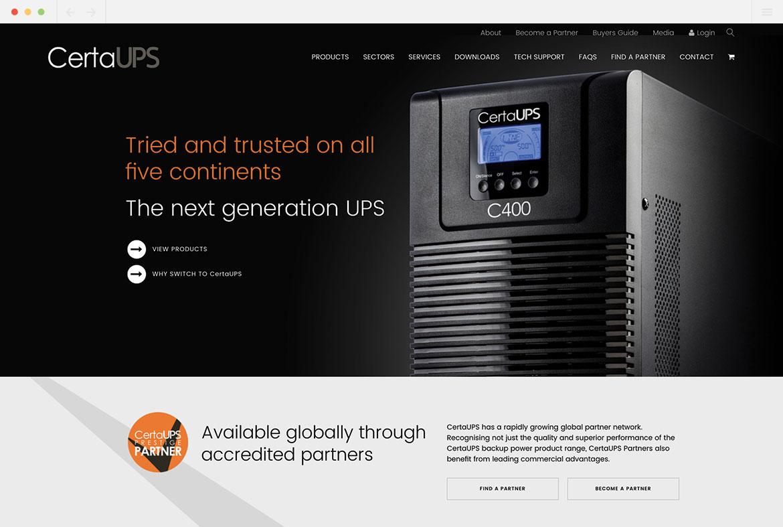 CertaUPS Homepage