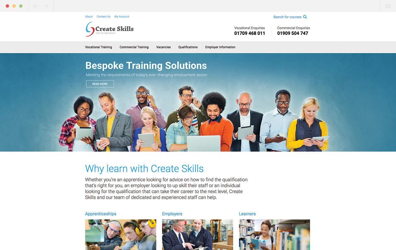 Create Skills Homepage