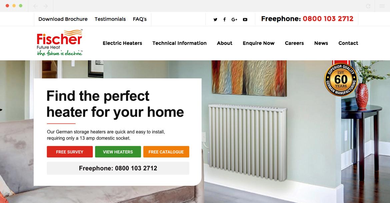 Fischer Future Heat Homepage