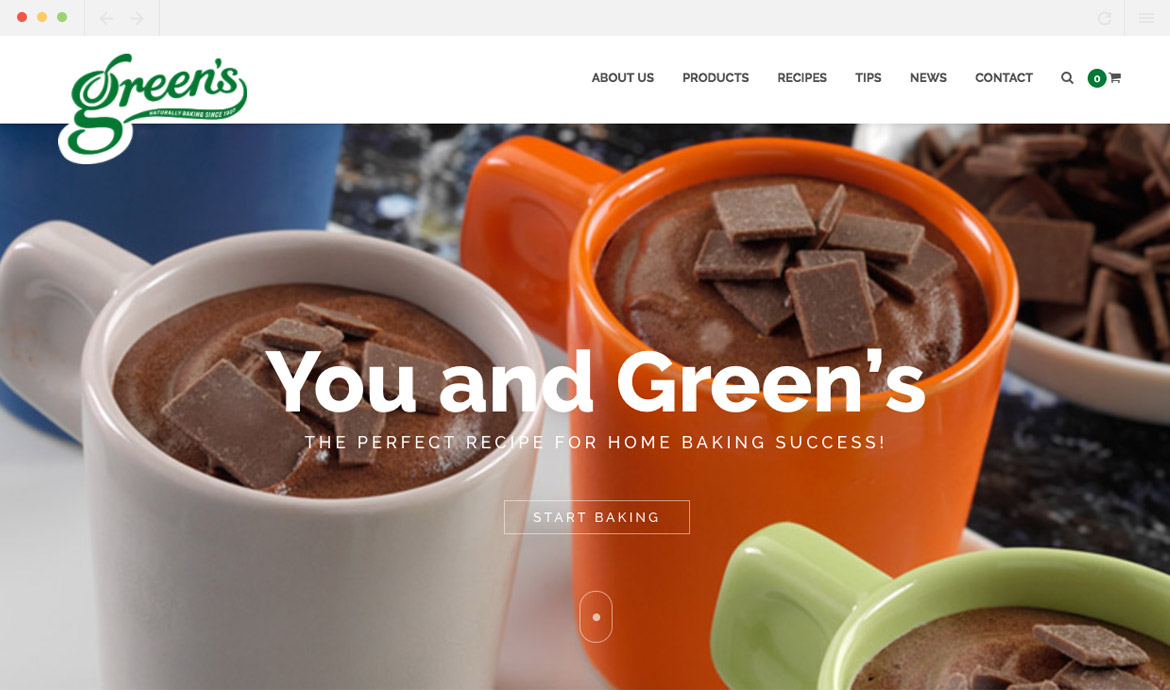 Greens Cakes Homepage