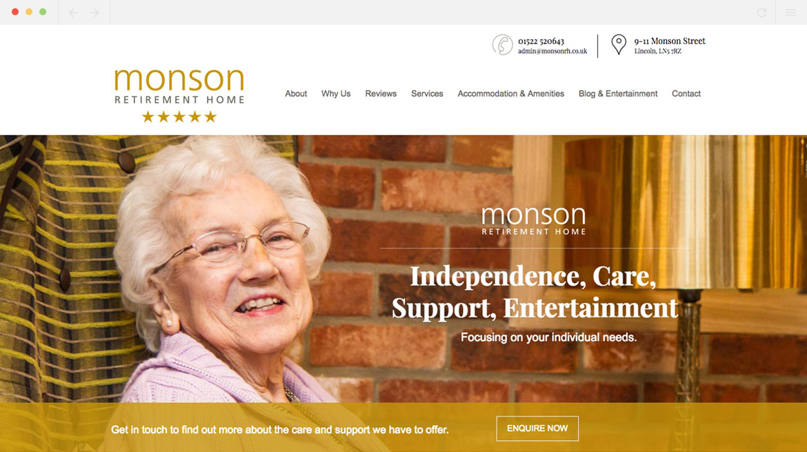 Monson Retirement Home Homepage