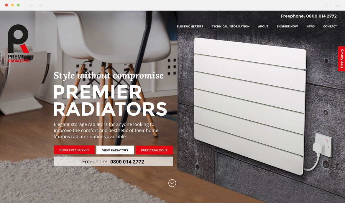 Premier Radiators Homepage