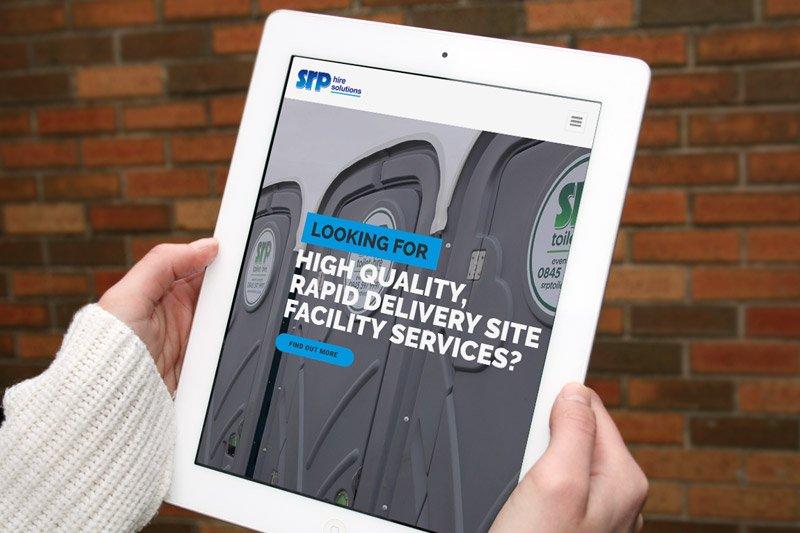 SRP Toilet Hire iPad