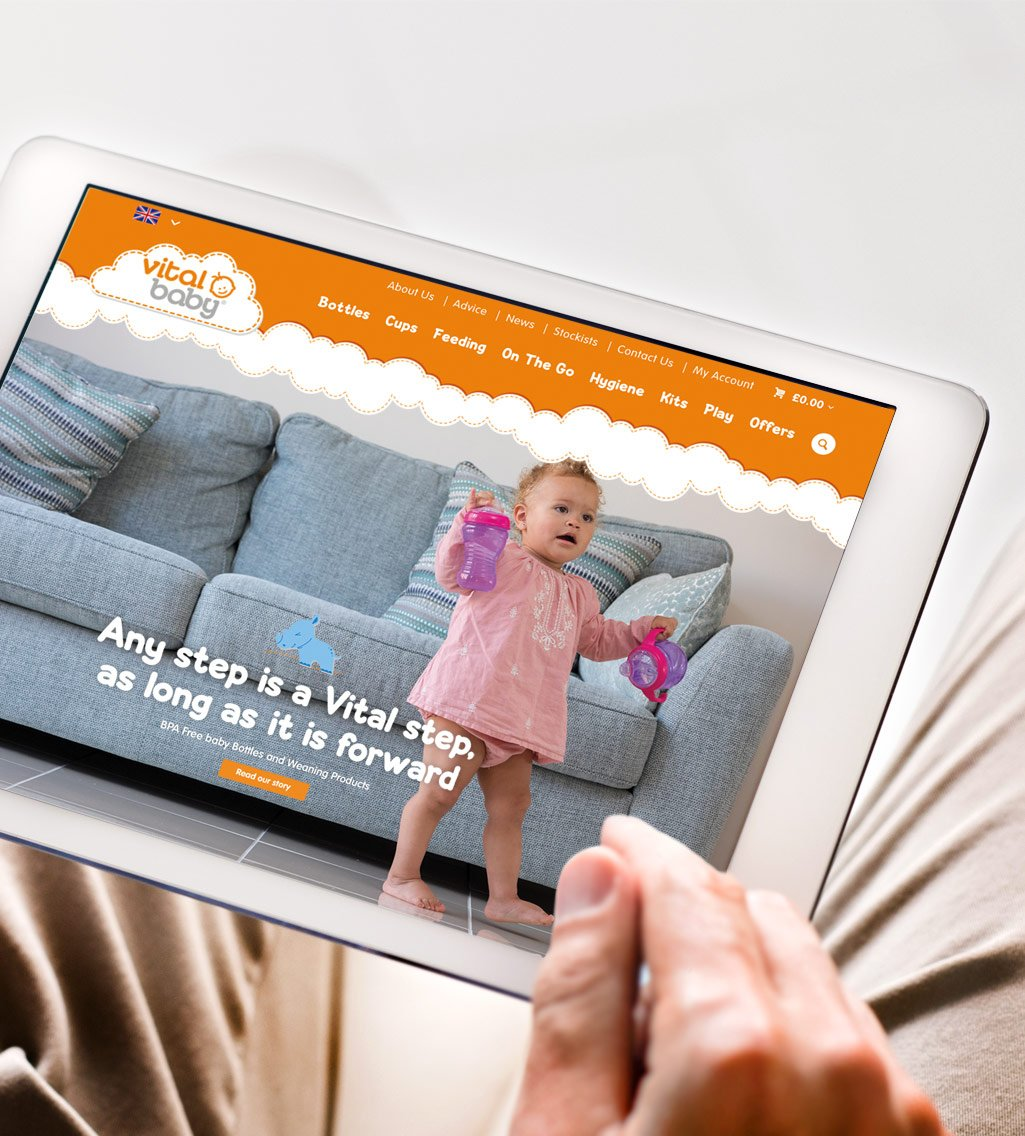 Vital Baby iPad Web Design