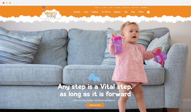 Vital Baby Homepage