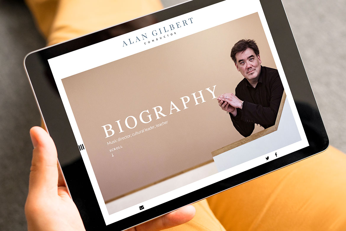 Alan Gilbert iPad Web Design