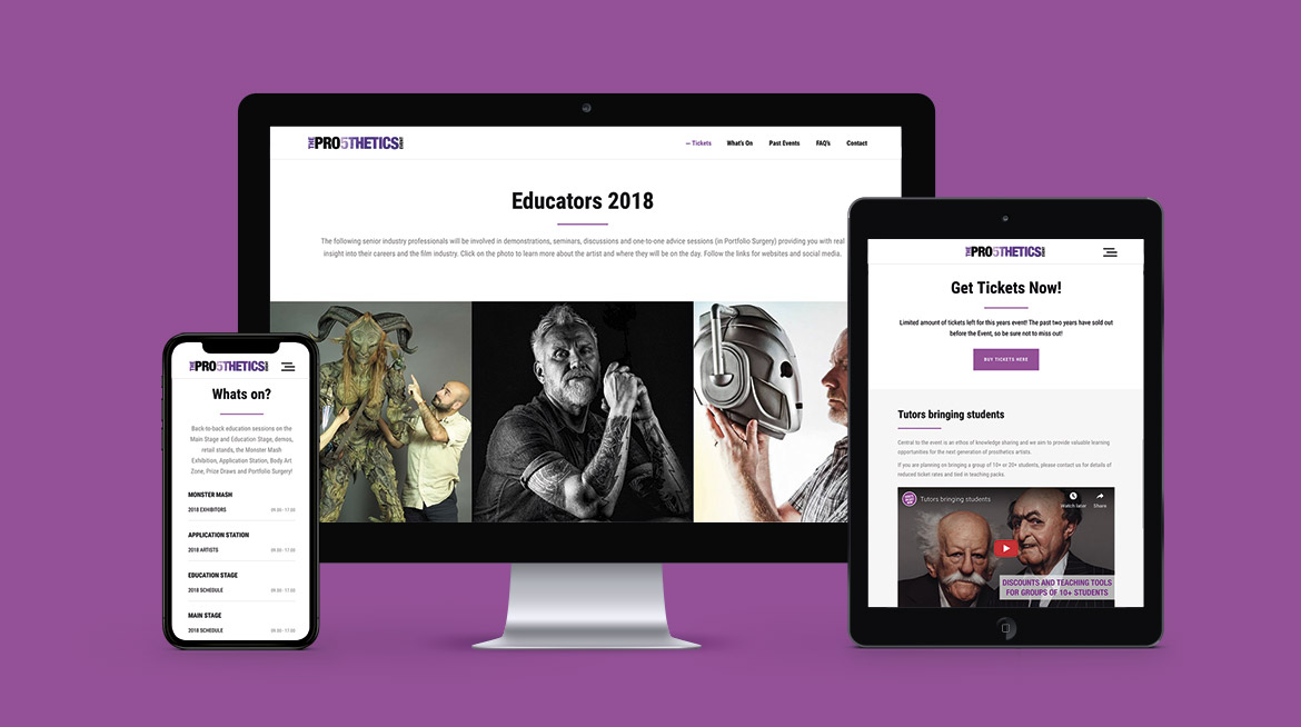 The Prosthetics Event Responsive Web Design all devices