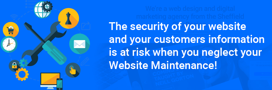 website maintenance security issues